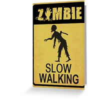 Allert Zombie Greeting Card