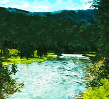 Yellowstone National Park Abstract Impressionism 1 by pjwuebker