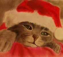 Christmas Kitty by dianesangel