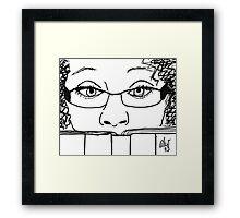 Reading Me! - Digital Sketch Framed Print