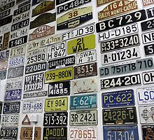 Number Plates Collective by liberthine01