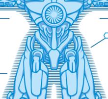 Vitruvian Jaeger Sticker