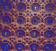 Ceiling of a study Ducal Palace Urbino Italy 198404120062 by Fred Mitchell