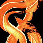 Fire Water 302 By Sharon Cummings - Orange And Yellow Abstract Art Painting by Sharon Cummings