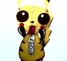 Gir Dressed Up As Pikachu by VivifiedVomit