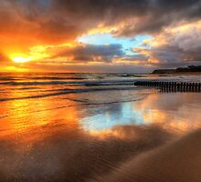 Torquay Sunrise by Danielle  Miner