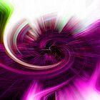 Pink ´N Green Twirl by Adrian Harvey