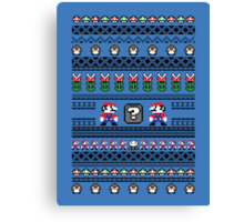 Super Mario Sweater Canvas Print