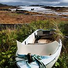A beached boat at Ardvaser, Skye by Richard Flint