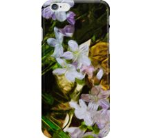 Spring Beauty a Wildflower 4 Abstract Impressionist iPhone Case/Skin