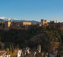 Alhambra in Granada, Spain by Pablo Romero
