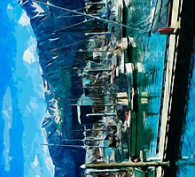 Seward Harbor Alaska Abstract Impressionism by pjwuebker