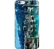 Seward Harbor Alaska Abstract Impressionism iPhone Case/Skin