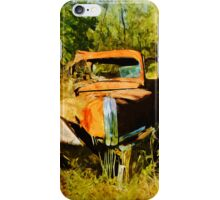 Rusty Old Orange Truck Abstract Impressionist iPhone Case/Skin