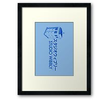 Studio Wibbly: Blue Varient  Framed Print