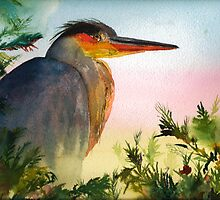 Blue Heron by Sally Griffin