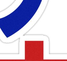ENEMY! (BlueRed) Sticker