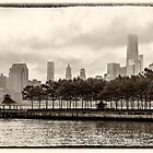Hoboken Pier In Sepia by Jessica Manelis