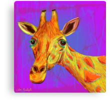 Funky Giraffe in Yellow and Orange Canvas Print