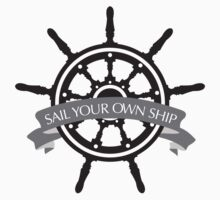 Sail Your Own Ship-Grey by Natalie Moralez