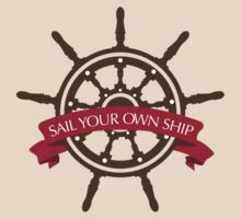 Sail Your Own Ship-Red by Natalie Moralez