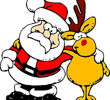 Buddies Santa and Rudolf by boogeyman