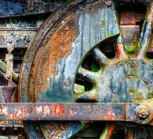 Locomotive Wheel by Dana Horne