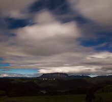Mt Roland by Moonlight by reflectimaging