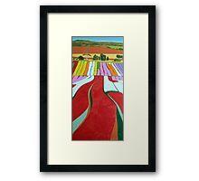 Natural Quilt, Table Cape Framed Print