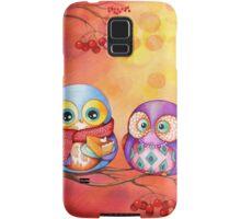 Thanksgiving Owls with Pumpkin Pie Samsung Galaxy Case/Skin