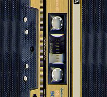 Classic Retro Maxell Gold cassette Tape by Johnny Sunardi