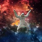 Sloth flying through space by McSlothington