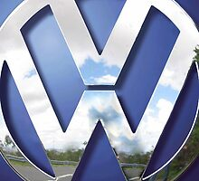 Big VW Volkswagen Chrome logo by Johnny Sunardi