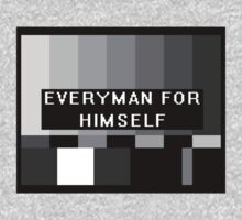 """Everyman For Himself"" black and white by O O"