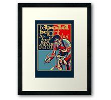 Retro Cycling Print Poster Hard as Nails  Framed Print