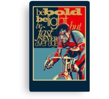 Retro Cycling Print Poster Hard as Nails  Canvas Print