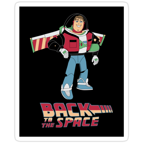 Buzz to the future sticker by EdWoody
