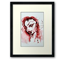 Bloody Vamp Girl Framed Print
