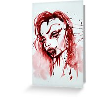 Bloody Vamp Girl Greeting Card