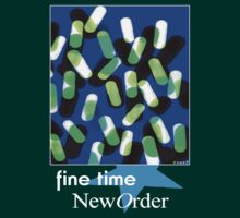 New Order 1989 Fine Time Peter Saville Poster by Shaina Karasik