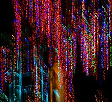 Colorful Christmas Streaks - Abstract Christmas Lights Series by Georgia Mizuleva