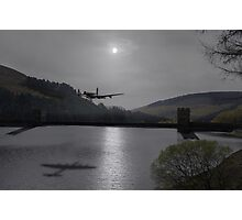Dambusters Lancaster at the Derwent Dam at night Photographic Print