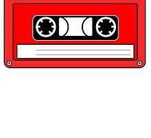 Red Cassette Tape by kwg2200