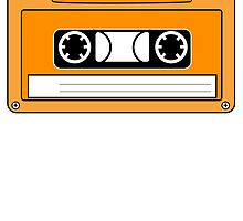Orange Cassette Tape by kwg2200
