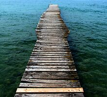 Boardwalk on a lake by Luigi Masella