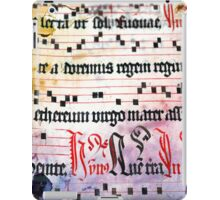 Choral Book Middle Ages - Music Vintage Art Prints Grunge Texture iPad Case/Skin