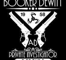 Booker DeWitt PI - White by Adam Angold