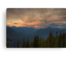 Bow Valley Sunset Canvas Print