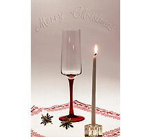 First candle for Christmas Photographic Print
