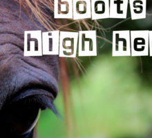 BootsToHighHeels - Tee Sticker